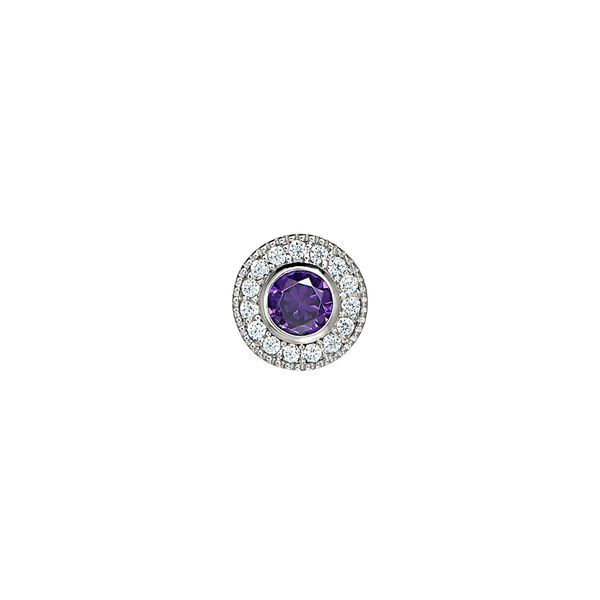 SS Simulated Amethyst February Birthstone Charm Carroll's Jewelers Doylestown, PA