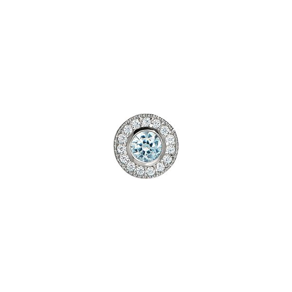 SS Simulated Aquamarine March Birthstone Charm Carroll's Jewelers Doylestown, PA