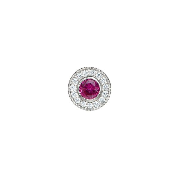 SS Simulated Ruby July Birthstone Charm Carroll's Jewelers Doylestown, PA