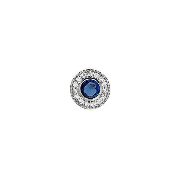 SS Simulated Sapphire September Birthstone Charm Carroll's Jewelers Doylestown, PA