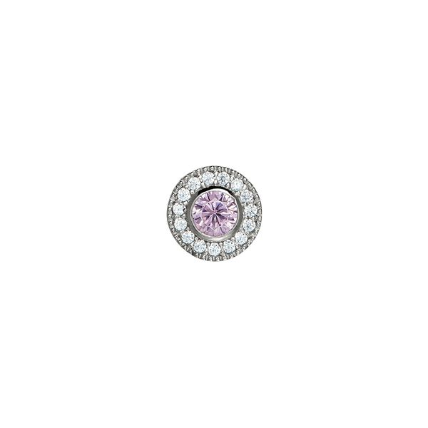 SS Simulated Pink Sapphire October Birthstone Charm Carroll's Jewelers Doylestown, PA