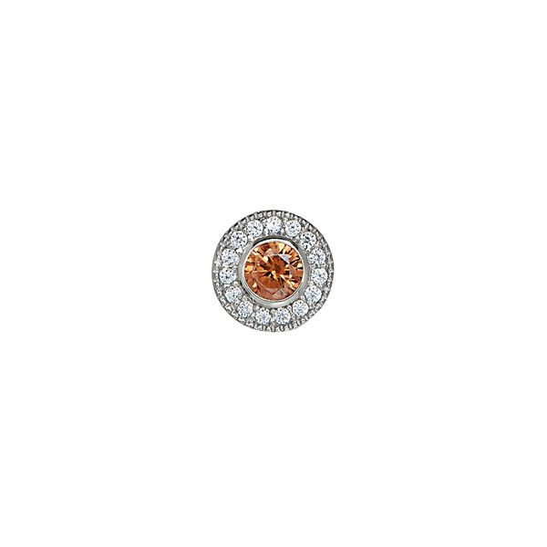 SS Simulated Citrine November Birthstone Charm Carroll's Jewelers Doylestown, PA