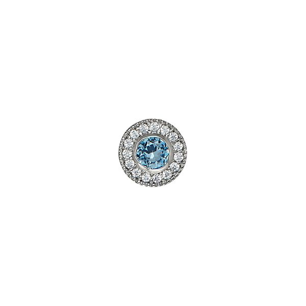 SS Simulated Blue Topaz December Birthstone Charm Carroll's Jewelers Doylestown, PA