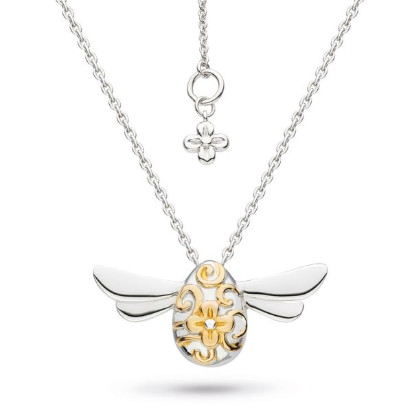 Sterling Silver 2 tone Bee necklace Carroll's Jewelers Doylestown, PA