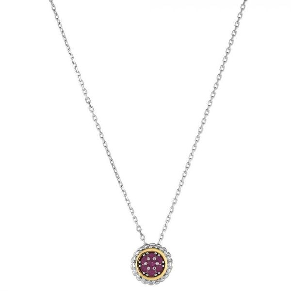 Two Tone Pave Ruby Pendant Carroll's Jewelers Doylestown, PA