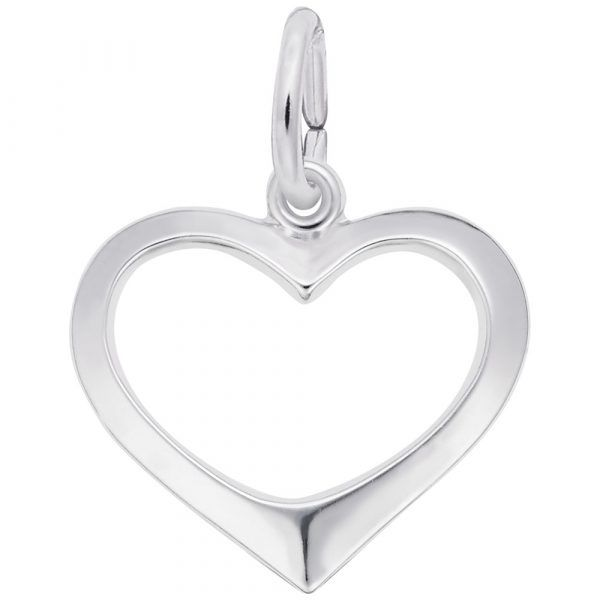 Sterling Silver Open Heart Charm Carroll's Jewelers Doylestown, PA