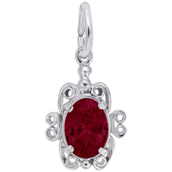 Sterling Silver January Birthstone Charm Carroll's Jewelers Doylestown, PA