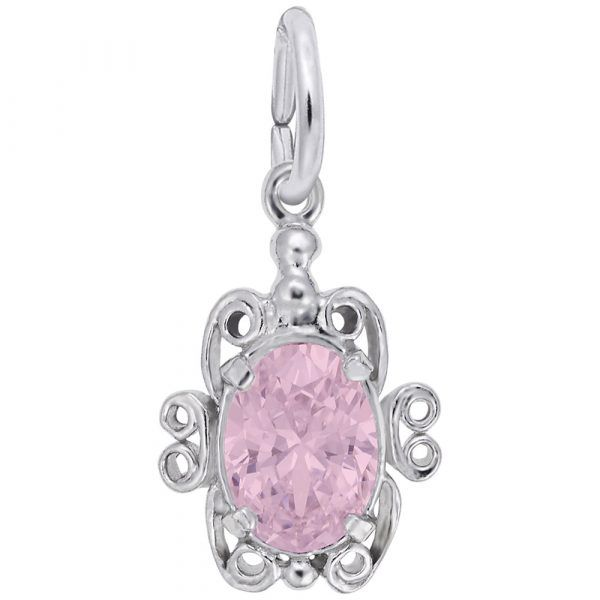Sterling Silver October Birthstone Charm Carroll's Jewelers Doylestown, PA