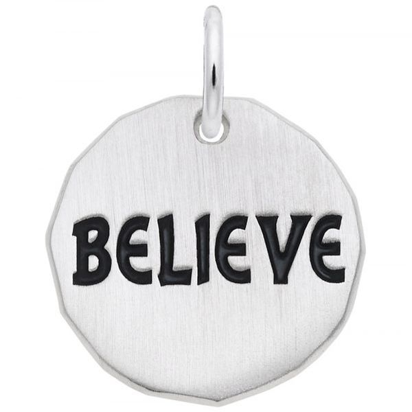 Sterling Silver Believe Charm Carroll's Jewelers Doylestown, PA