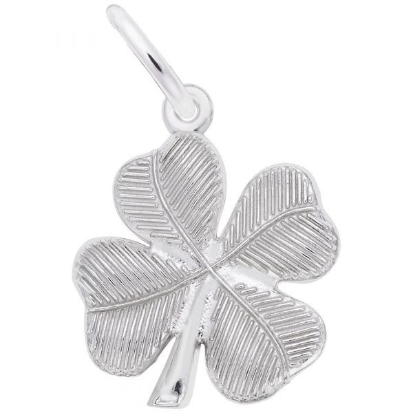 Sterling Silver Four Leaf Clover Charm Carroll's Jewelers Doylestown, PA