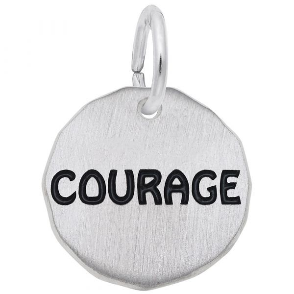 Sterling Silver Courage Charm Carroll's Jewelers Doylestown, PA