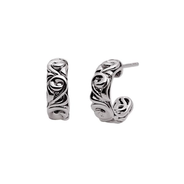 Sterling Silver hoop earrings Carroll's Jewelers Doylestown, PA