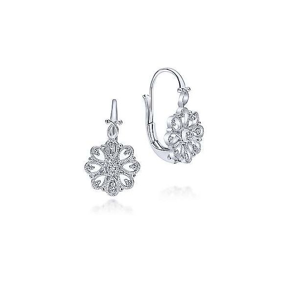SS Vintage Inspired White Sapphire Earrings Carroll's Jewelers Doylestown, PA