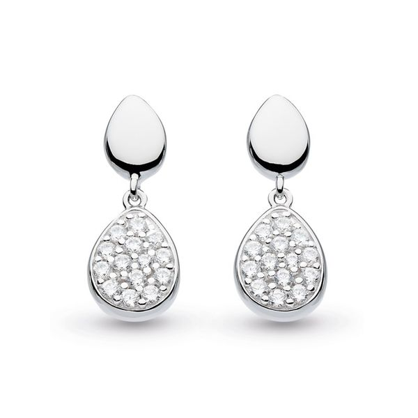 Sterling Silver Coast Pebble Glisten Drop Earrings Carroll's Jewelers Doylestown, PA