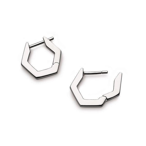 SS Hexagonal Huggie Earrings Carroll's Jewelers Doylestown, PA