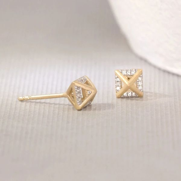 Yellow over SS .05ct TW Diamond Fashion Studs Carroll's Jewelers Doylestown, PA