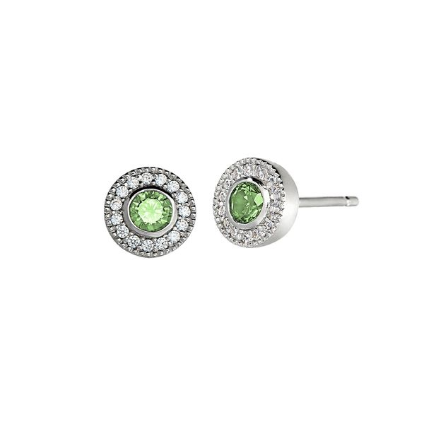 Sterling Silver simulated Peridot August Birthstone Earrings Carroll's Jewelers Doylestown, PA