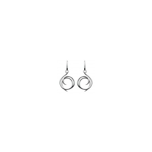 Sterling silver Helix Drop Earrings Carroll's Jewelers Doylestown, PA