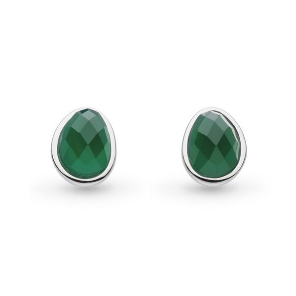 Sterling Silver Green Agate Studs Carroll's Jewelers Doylestown, PA