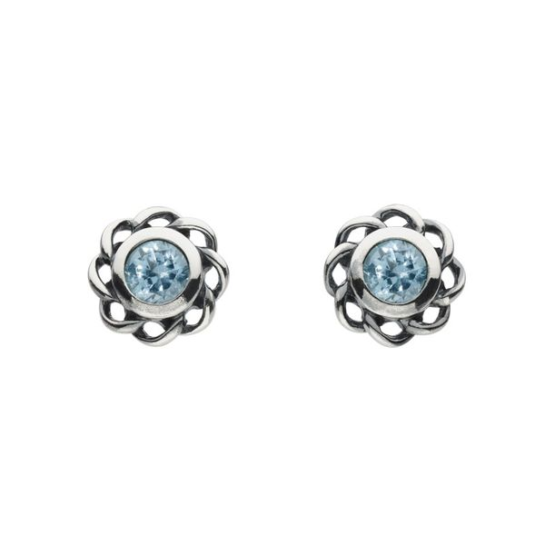 Sterling silver March Imitation Aquamarine Earrings Carroll's Jewelers Doylestown, PA