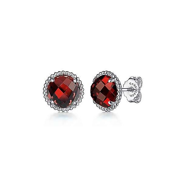 SS Garnet Stud Earrings Carroll's Jewelers Doylestown, PA