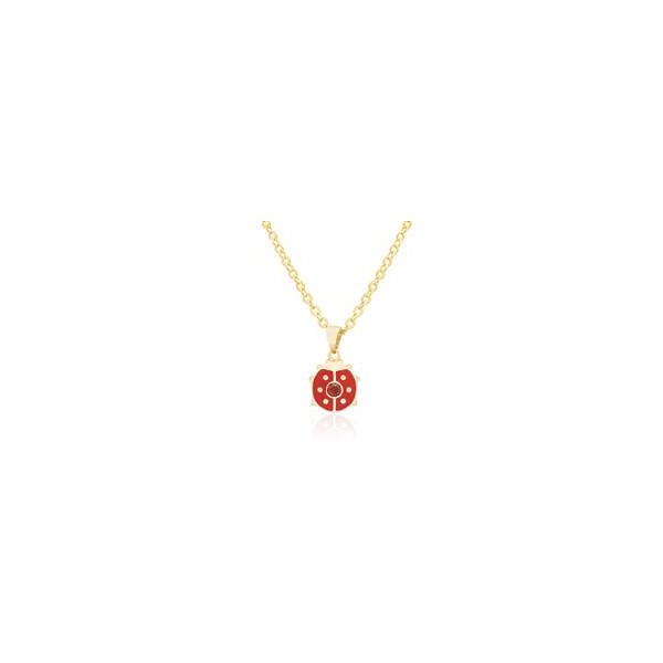 Childrens Gold Plate Ladybug Pendants with Red Crystal Carroll's Jewelers Doylestown, PA