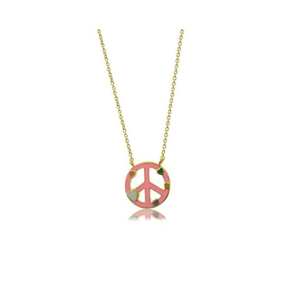 Child's Peace sign necklace Carroll's Jewelers Doylestown, PA