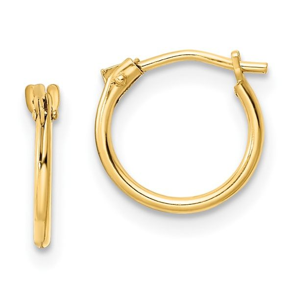 14kt YG Child's Hoop Earring Carroll's Jewelers Doylestown, PA