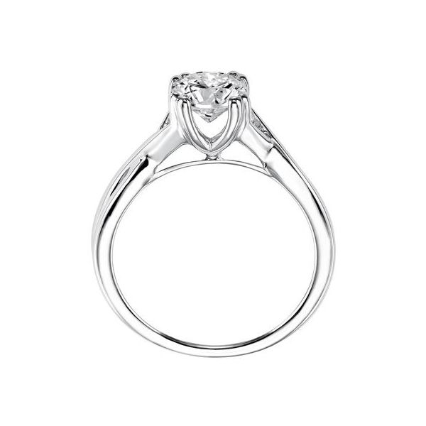 Criss Cross Shank Solitaire Engagement Ring Image 3 The Ring Austin Round Rock, TX