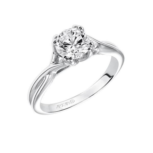 Criss Cross Shank Solitaire Engagement Ring The Ring Austin Round Rock, TX