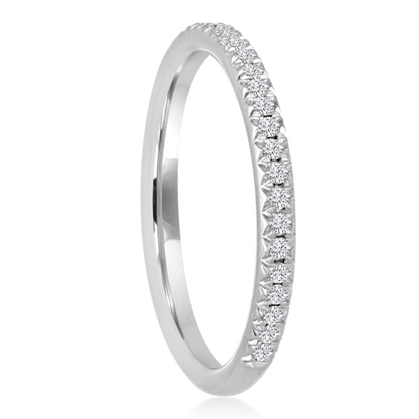Pave Diamond Wedding Band 1/4ctw Image 2 The Ring Austin Round Rock, TX