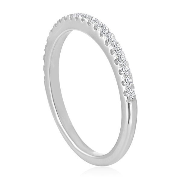 Round Pave Wedding Band 1/5ctw Image 2 The Ring Austin Round Rock, TX