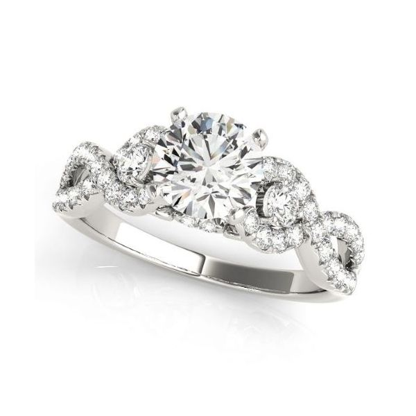 Fancy Three Stone Split Shank Engagement Ring The Ring Austin Round Rock, TX