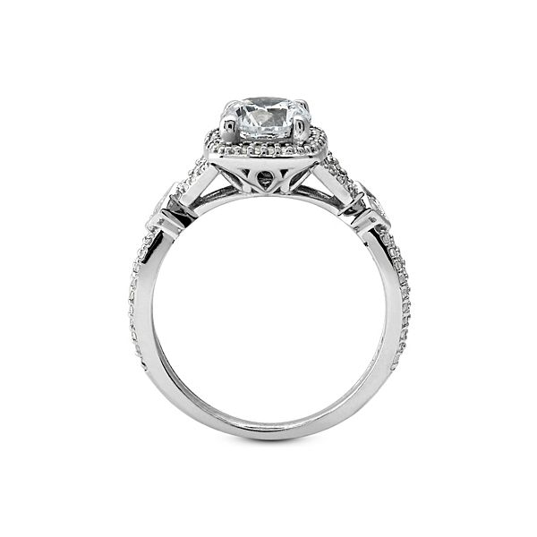 Diamond Halo Split Shank Engagement Ring Image 2 The Ring Austin Round Rock, TX