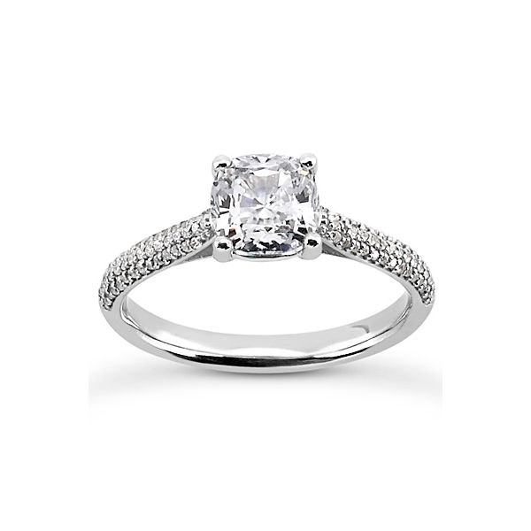 Pave Set Diamond Engagement Ring The Ring Austin Round Rock, TX