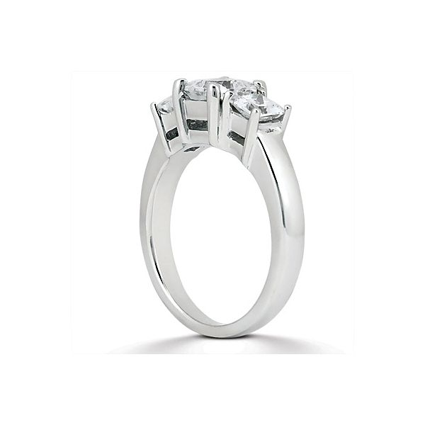 Three Stone Princess Cut Style Engagement Ring Image 2 The Ring Austin Round Rock, TX