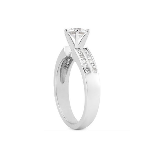 Princess Cut Channel Set Diamond Engagement Ring Image 2 The Ring Austin Round Rock, TX