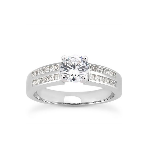 Princess Cut Channel Set Diamond Engagement Ring The Ring Austin Round Rock, TX