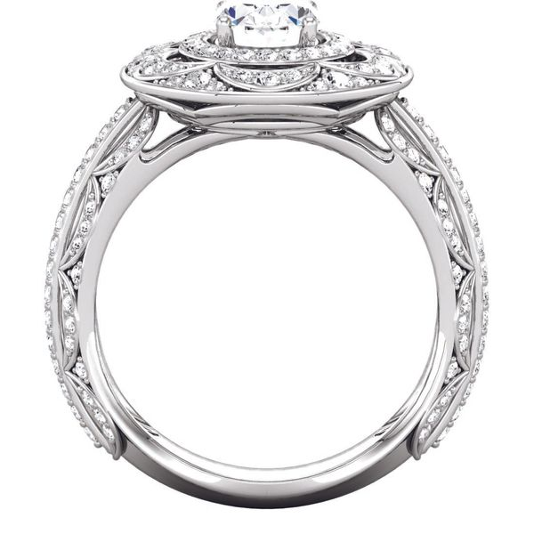 Antique Style Double Halo Engagement Ring Image 3 The Ring Austin Round Rock, TX