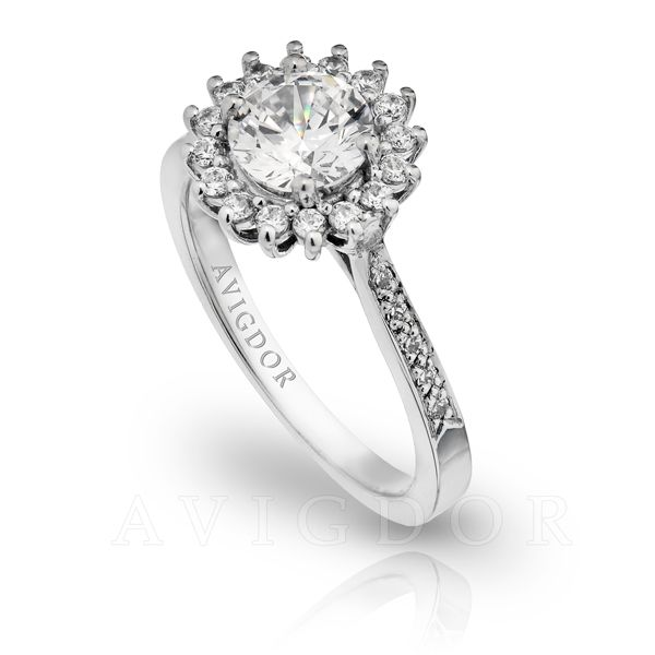 1/3 ctw Diamond Halo Engagement Ring Image 2 The Ring Austin Round Rock, TX