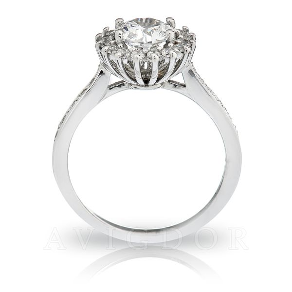 1/3 ctw Diamond Halo Engagement Ring Image 3 The Ring Austin Round Rock, TX
