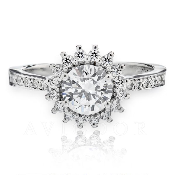 1/3 ctw Diamond Halo Engagement Ring The Ring Austin Round Rock, TX