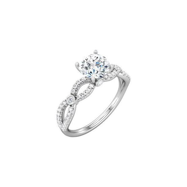 14k WG Diamond Twist Engagement Ring The Ring Austin Round Rock, TX