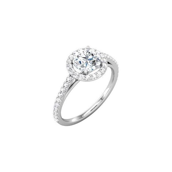14k WG Round Halo Diamond Engagement Ring The Ring Austin Round Rock, TX