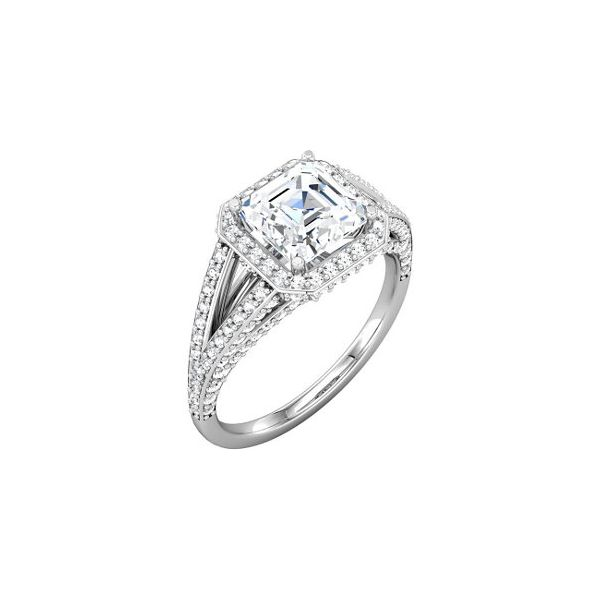3/4 ctw Halo Split Shank Diamond Engagement Ring The Ring Austin Round Rock, TX