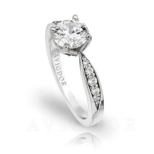 14k White Gold Engagement Ring Image 2 The Ring Austin Round Rock, TX