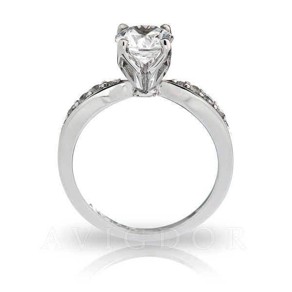 14k White Gold Engagement Ring Image 3 The Ring Austin Round Rock, TX