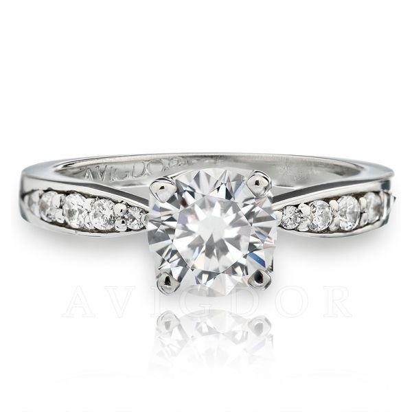 14k White Gold Engagement Ring The Ring Austin Round Rock, TX