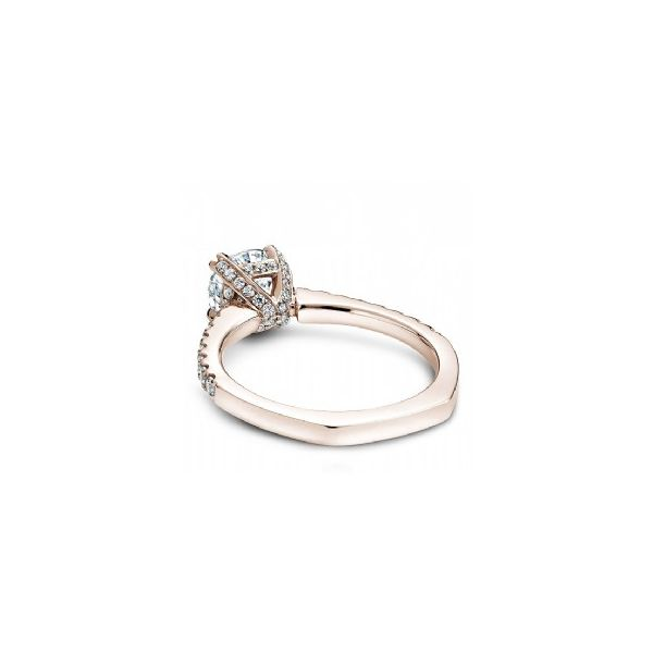 Rose Gold 3/8 ctw Fancy Crown Engagement Ring Image 2 The Ring Austin Round Rock, TX
