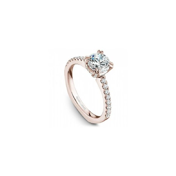 Rose Gold 3/8 ctw Fancy Crown Engagement Ring Image 3 The Ring Austin Round Rock, TX